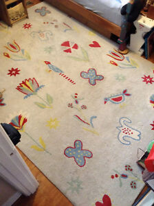 """100% Wool Thick Rug / Tapis 100% Laine - 6.7"""" x 9"""" ft"""