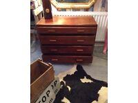 Retro vintage industrial drawers
