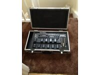 Effects pedal board case for Line 6 Pod XT LIVE or similar size.