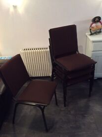 Set of 4 sturdy stacking chairs for sale