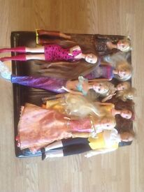 Lots of Barbie Figures and friends with Outfits