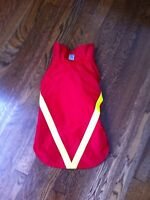 Red rain coat for dog and vest