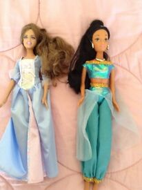Two Disney princess dolls
