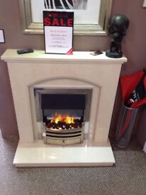 Hereford Arch Coral Cream Fireplace