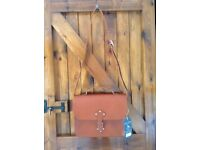 Jack Wills Braidley Satchel - Tan Leather - NEW with packaging