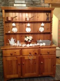 Solid pine Display Dresser