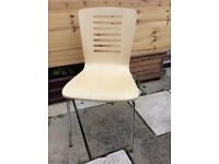 Brand New CHAIR Beech with Chrome Frame