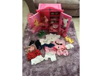 Build a bear huge bundle including wardrobe and chair