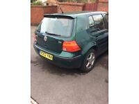 VW GOLF 1.9 TDI 2002 spares or repairs