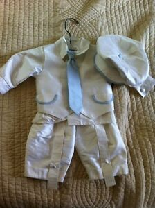 Raw silk boys baptism outfit - worn once only!