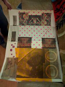 """"""" Cage 1983 """"artist Robert Rauschenberg {1925 - 2008 }lithograph"""