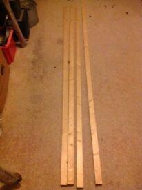 4x PSE Timber 2.4m x 18mm x 44mm