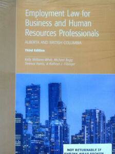EMPLOYMENT LAW FOR BUSINESS AND HUMAN RESOURCES PROFESSIONALS: A