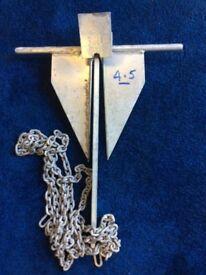 Danforth 4.5kg anchor