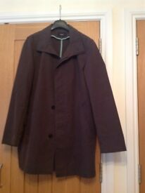 Men's brown casual raincoat