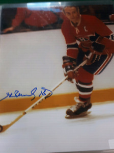Henri Richard autographed NHL Hockey picture