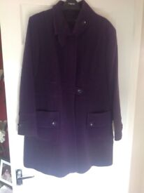 Next Purple 3/4 Length Coat REDUCED