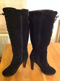 Suede Black Women's Boots - UK Size 6.5
