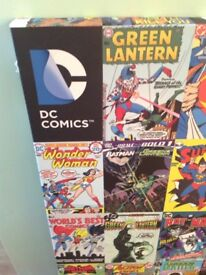 DC comics montage framed canvas print poster picture