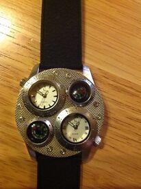 New Watch silver black