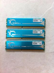 G.Skill Performance 6GB (2GB x 3), DDR3 Desktop Computer Ram