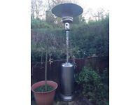 Stainless steel gas garden patio heater £15