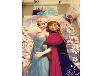 Frozen single bed set and cushion