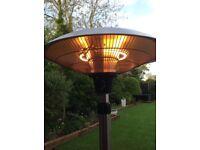 2.1kw freestanding halogen bulb adjustable height heater, inside or outdoor