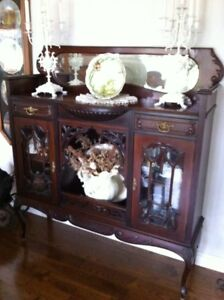 Antique Table & Chairs and Buffet