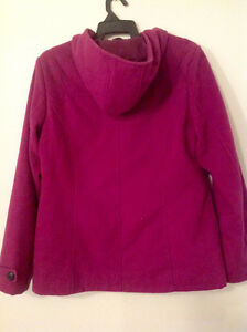 size 16 pink polyester coat with hood Kingston Kingston Area image 2