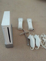 Nintendo Wii Console with Controllers and Nunchuks