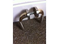 6 sets of heavy brass door handles in perfect condition £35