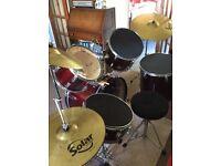 Drum Kit - red CB series 1308 £150