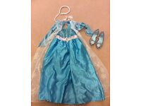 Frozen Elsa dress and shoes