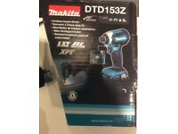 Makita Brushless impact Driver, Battery & charger (new)