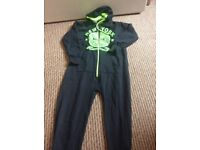 Age 5-6 years New York onesie, hardly worn, black & green