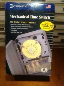 Intermatic T104-70 24 Hour Mechanical Time Switch