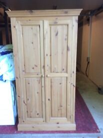 Solid pine hand made wardrobe