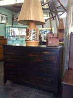 ANTIQUE RUSTIC REFINISHED SIDEBOARD $385