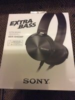Sony extra bass stereo headphones brand new sealed in box