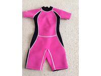 Children's short wetsuit Age 7-9
