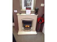 Hereford Arch Fireplace Cream Or White Marble