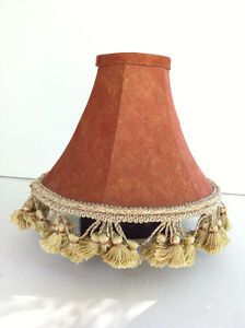 Fabric Couture Brown Caramel Shade with Gold Crown Tassel Fringe Peterborough Peterborough Area image 1