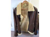 Mens sheepskin flying jacket RRP £1000