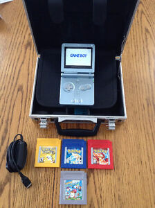 For sale is my Gameboy Advance SP carry case and game's