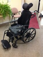 USED WHEELCHAIR WITH LOTS OF ATTACHMENTS