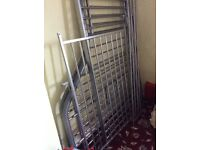Triple bunk bed (double/single) metal frame