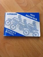 1995 HONDA XR80R OWNERS MANUAL