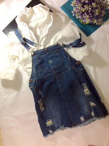 JEANS SKIRT OVERALL