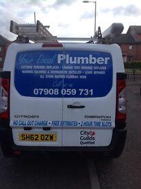 LOCAL PLUMBER: Cisterns/taps repair/replace, install washing m/cs & dishwashers , repair leaks, etc